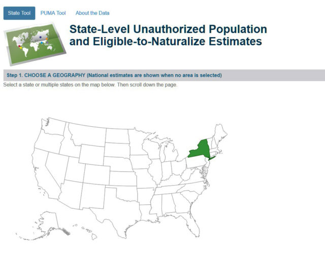 Data Tool Us Unauthorized And Eligible To Naturalize By State