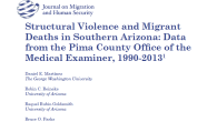 Structural Violence and Migrant Deaths in Southern Arizona: Data from the Pima County Office of the Medical Examiner, 1990-2013 Daniel E. Martínez The George Washington University Robin C. Reineke University […]