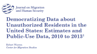 Democratizing Data about Unauthorized Residents in the United States: Estimates and Public-Use Data, 2010 to 2013 Robert Warren Center for Migration Studies EXECUTIVE SUMMARY Information about the unauthorized resident population […]