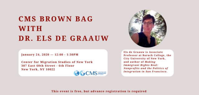 CMS Brown Bag Series with Dr. Els de Graauw