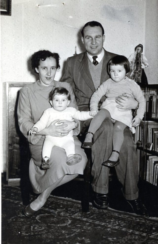 WWII Refugees family of four